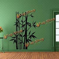 Сменная бамбуковая стенная черная переводная картинка фрески художественного оформления искусства внутреннего декора этикеток