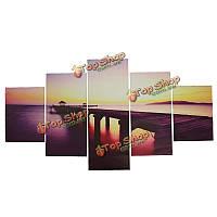 5шт холст картины закат морской пейзаж печать морской воды современный стены искусства рисунок домашний декор стен