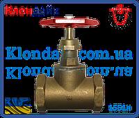 Вентиль латунный PN 16 для пара t225С (15Б1п) 1