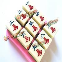 Поделки маджонг шоколада прессформы торта прессформы торт украшение выпечки инструмент