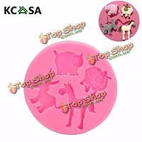 KCASA™ Млекопитающие Животные силиконовые формы шоколада помадной массы полимерной глины плесень