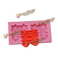 Двойников Си слова fandant силикона прессформы шоколада прессформы полимерной глины
