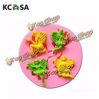 KCASA™ 4 фея ангел силиконовые формы шоколада помадки полимерная глина плесень