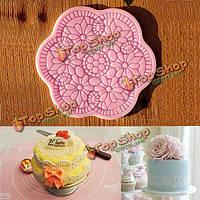 Силиконовые формы цветок кружева помады торт выпечка плесень сахар ремесла DIY инструмента
