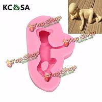 KCASA™ 3D силикона Спящая младенца прессформы торта украшая помадная мыла прессформы
