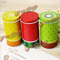 Свежие фрукты цилиндра мини хранения чая коробка кофе олово