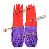 Перчатки резиновые латексные длинные с кашемиром