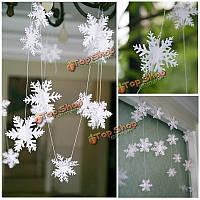 Снежинки на нитке бумажные 3м