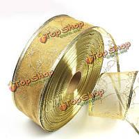 Золото горячего тиснения лента поставок елки украшения