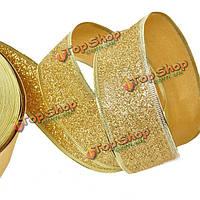 Золото лук порошок лента поставок елки украшения