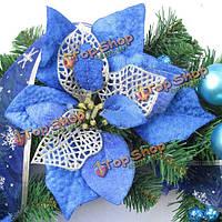 22см голубая елка украшения аксессуары сцены макет
