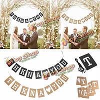Старинные спасибо свадьба баннер фото реквизит овсянка свадебный декор партии