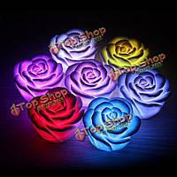 5шт красочный LED роза цветок мигающий свет ночи розы vanlentines украшения венчания подарка партии