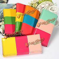 Конфеты цвет леди женщин длинный бумажник PU кожаный кошелек сумочка сумка