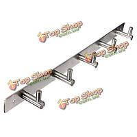 Нержавеющая сталь вешалка для одежды 5 крючков вешалка настенная для одежды