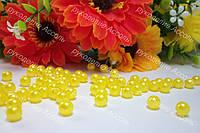 Бусины 6мм желтые перламутр