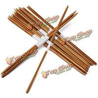 44шт 11 размеры обугленного бамбука двойной вязальные спицы шляпа свитер шарф крючком крючки
