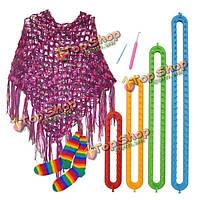 4 размеры DIY шарф платок шляпа носки одеяло вязальщица длинные ткацкие станки ABS пластиковые инструменты ткачества