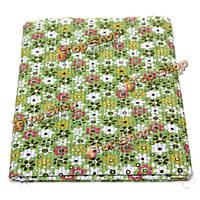 8шт 40x50см хлопок зеленый цветок шитье ткани куклы кошелек HANDWORK DIY лоскутные ткани