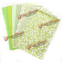 9шт 25x20см хлопка светло-зеленый серия шитье ткани куклы кошелек HANDWORK DIY лоскутные ткани