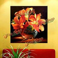 3D золото лилии DIY горный хрусталь живопись кросс комплекты стежка алмазов вышивки набор
