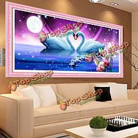 80x37см 5D DIY море Любящий лебеди алмазов картина смолы полный набор горный хрусталь животное вышивка крестом