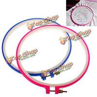 2шт пластиковая синий розовый крест вышивка обруч кольцо швейная инструмент
