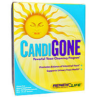 Противокандидный комплекс (CandiGone), Renew Life, 60 кап + 29 мл.