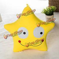 Милый творческий желтый выражение звезда бросить подушку удобный офис диван автомобиль подушки