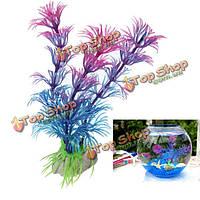 Пластичный искусственный аквариум орнамент растения оформление аквариума
