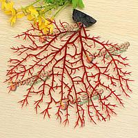 Мягкие рыбы оформление аквариума коралл красный анемон искусственных водных