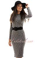 Трикотажное платье Кармина серое