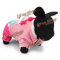 Прекрасный вышивать милый кролик ватки собаки кота зимние розовые одежды