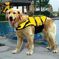 ПЭТ света светоотражающие полосы регулируемые спасательный жилет собака safty купальник