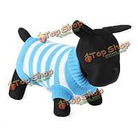 Полосатая собака дышащая вязаные свитера и пиджаки одежда