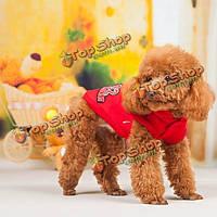 Мода хип-хоп собаки любимчика хлопок капюшон зимнего спорта швацер пальто