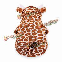 Животное жираф стиль толстые теплые хлопка собака кошка пальто костюм зимний