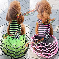 Лето щенок собаки платье юбка щенок свадебное платье пузырь юбка собака
