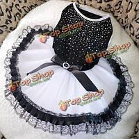 Летом кружева пузырь собака платье юбка кружева юбка принцессы