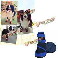 Кошка собака собака ботинки голубые водонепроницаемые бахилы предотвратить травмы лапы обувь