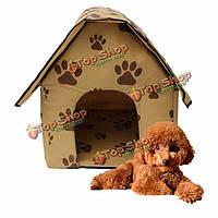Складной собака кошка животное щенок питомников кровати дома конуре складной портативный путешествие
