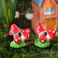 Мини смолы гриб микро-ландшафтных украшений сада поделки декор