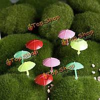 Мини зонтик пляжа микро-ландшафтных украшений сада поделки декор