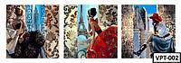 ТРИПТИХ Картины по номерам на холстеVPT-002  150х50см