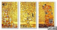 ТРИПТИХ Картины по номерам на холсте VPT-005  150х50см