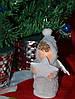 Новогодние украшения Ангелочек  пупс стоящий  0264, фото 4