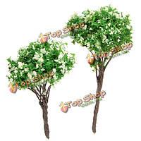Сделай сам пейзаж микро цветет дерево в горшке декора сада