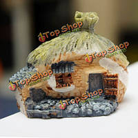 Мини смолы дом микро-ландшафтных украшений сада поделки декор
