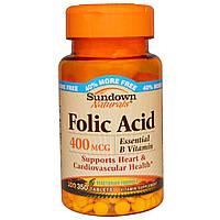 Фолиевая кислота, Rexall Sundown Naturals, 400, 350 табл.