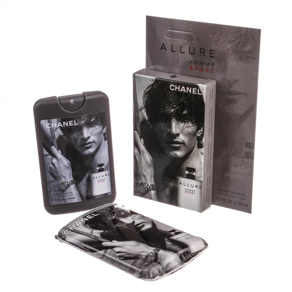 Духи (мини-парфюм) CHANEL Allure Homme Sport 50 мл в стильном чехле с фотопечатью - ONE-Parfum - интернет-магазин парфюмерии и косметики в Киеве